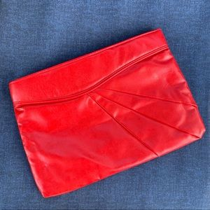Vintage red clutch